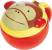"""Купичка за храна с капаче и дръжка - Маймунката Маршъл - От серията """"Zoo"""" за бебета над 12 месеца -"""