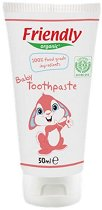 Friendly Organic Baby Toothpaste 100% Food Grade Ingredients - Бебешка паста за зъби със 100% ядивни съставки и вкус на малина - душ гел