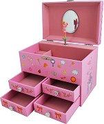 Музикална кутия за бижута - Замъкът на Феята - детски аксесоар