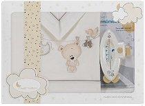 Спален комплект за бебешко креватче - Teddy - От 3 части с термометър за вана -