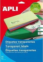 Прозрачни обли полиестерни етикети за принтиране