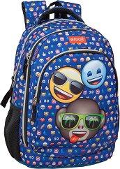 """Ученическа раница - Emoji Three Friends - От серията """"Emoji"""" - детски аксесоар"""