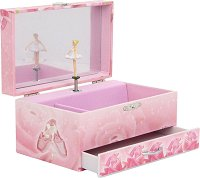 Музикална кутия за бижута - Балерина - С фосфоресциращи елементи -