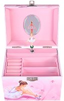 Музикална кутия за бижута - Балерина - С фосфоресциращи елементи и фигурка - играчка