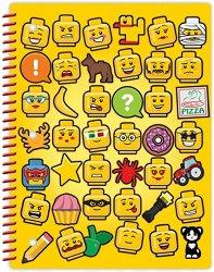 Ученическа тетрадка със спирала - LEGO Iconic : Широки редове - Размери 26.6 x 20.3 cm - 70 листа -