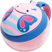 """Купичка за храна с капаче и дръжка - Пеперудката Блосъм - От серията """"Zoo"""" за бебета над 12 месеца -"""