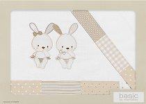 """Спален комплект за бебешко кошче или люлка - Малки зайчета - От 3 части от серията """"Pasword"""" -"""