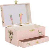 Музикална кутия за бижута - Феята на цветята - С фосфоресциращи елементи -