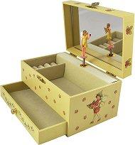 Музикална кутия за бижута - Феята на ягодите - С фосфоресциращи елементи -