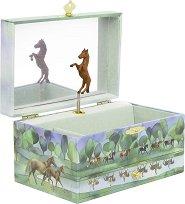 Музикална кутия за бижута - Коне - С фосфоресциращи елементи - играчка