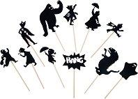 """Фигурки за театър на сенките - Герои в мрака - Комплект за игра от серията """"Les Ombres"""" -"""