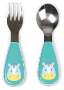 """Метални прибори за хранене - Еднорогът Юрика - Комплект от вилица и лъжица от серията """"Zoo"""" - прибори"""