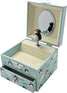Музикална кутия - Пингвини - С фосфоресциращи елементи -