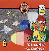 Цветни тебешири за асфалт - Комплект от 6 цвята