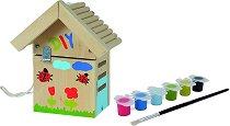 """Направи и декорирай сам - Къща за калинки - Творчески комплект от серията """"Outdoor"""" -"""