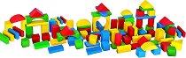 Дървен конструктор - 100 части - играчка