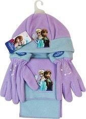 """Шапка, шал и ръкавици - Детски комплект от серията """"Замръзналото кралство"""" - играчка"""