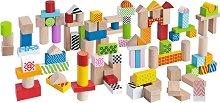 Дървен конструктор - 50 части -