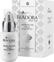 Beadora Bright Pearl Sun Protection Cream Maxx - SPF 50+ - крем
