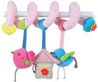 Птички - Мека играчка за бебешкa количка - играчка