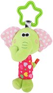 Плюшена дрънкалка - Слонче - Играчка за детска количка или легло -