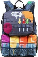 Ученическа раница - Graffiti - Комплект с чанта за храна -