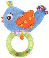 Птичка - Плюшена играчка с дрънкалка -