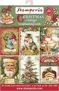 Хартии за скрапбукинг - Коледни картички - Комплект от 24 листа
