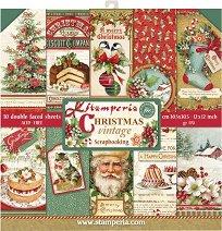 Хартии за скрапбукинг - Коледни картички