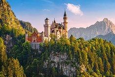 Изглед към замъка Нойшванщайн, Германия - пъзел