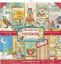 Хартии за скрапбукинг - Patchwork - Комплект от 10 броя