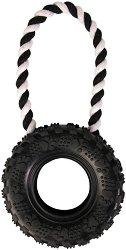 Автомобилна гума с въже - Играчка за кучета -