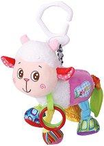 Плюшено агънце - Играчка с вибрация за детска количка или легло -