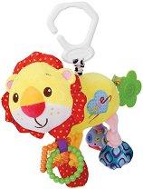 Плюшено лъвче - Играчка с вибрация за детска количка или легло - играчка