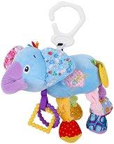 Плюшено слонче - Играчка с вибрация за детска количка или легло - играчка