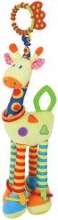 Плюшено жирафче - Писукаща играчка с дъвкалка за детска количка или легло -