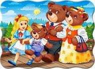 Златокоска и трите мечки - Пъзел в нестандартна форма - пъзел