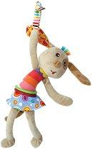 Плюшена дрънкалка - Кученце - Бебешка играчка с вибрация за количка или легло - играчка