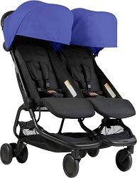 Комбинирана бебешка количка за близнаци - Nano Duo - С 4 колела -