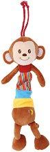 Плюшена маймунка - Музикална играчка за детска количка или легло -