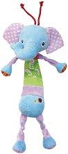 Плюшено слонче - Музикална играчка за детска количка или легло -
