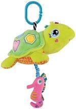 Плюшена костенурка - Музикална играчка за детска количка или легло -