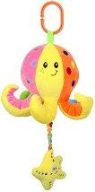 Плюшено октоподче - Музикална играчка за детска количка или легло - кукла