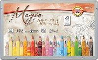 Многоцветни моливи - Комплект от 24 цвята в метална кутия