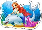 Малката русалка с делфин - Пъзел в нестандартна форма - пъзел