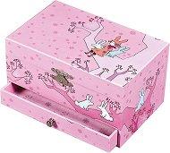 Музикална кутия за бижута - Момиченце със зайци - С фосфоресциращи елементи -