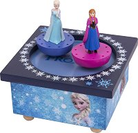 Музикална въртележка - Елза и Анна - Детска играчка от серията Замръзналото кралство - количка