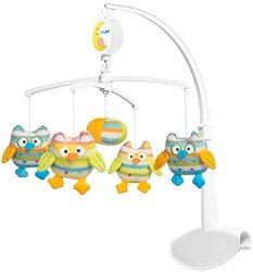 Музикална въртележка - Бухалчета - Играчка за бебешко креватче -