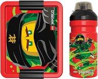 Комплект бутилка и кутия за храна - LEGO Ninjago - детски аксесоар