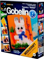 """Направи сам гоблен без игла - Зайче - Творчески комплект от серията """"Gobelin"""" - творчески комплект"""